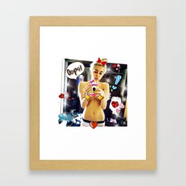 Miley's Selfie Framed Art Print