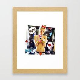 Miley's Selfie Framed Art Print