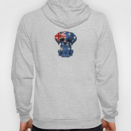 Cute Puppy Dog with flag of Australia Hoody
