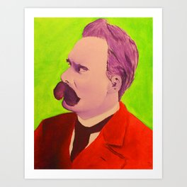 Colorful Nietzsche Art Print