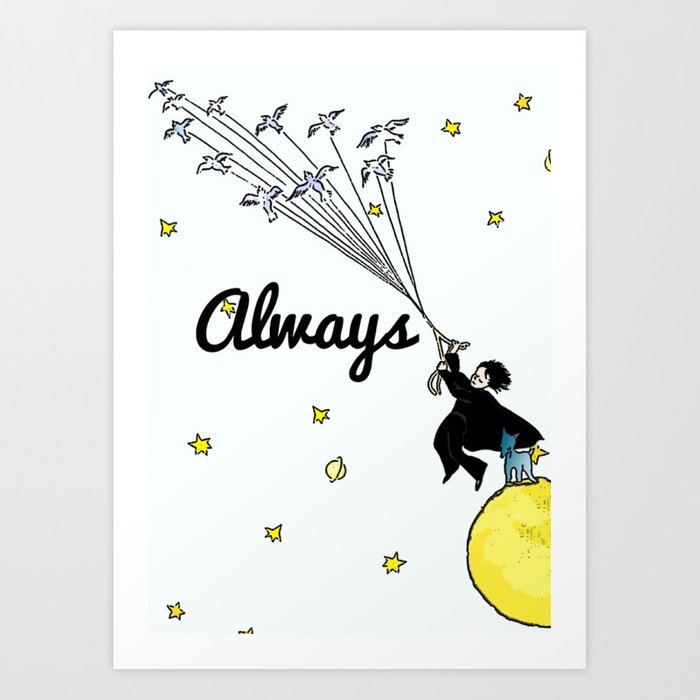 68730723e Always - Severus Snape Art Print by starsofsobek
