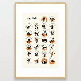 CRYPTIDS A-Z Framed Art Print