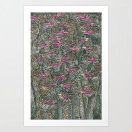 Ostriches Art Print