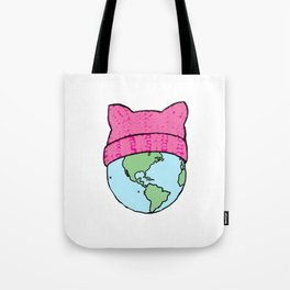 It's a pussy world Tote Bag