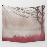 fog Wall Tapestries featuring Fog by KunstFabrik_StaticMovement Manu Jobst