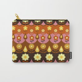 Folk Flowers Dusty Pink Carry-All Pouch