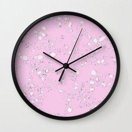 Terrazzo: Pink Wall Clock