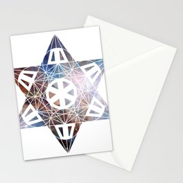 Metatron's Cube Time Wheel ~ Orion Stationery Cards