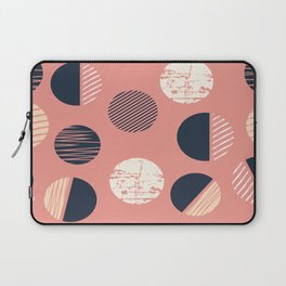 Abstract Circles In Pink Laptop Sleeve