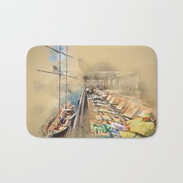 Relax! South Street Seaport NYC Bath Mat