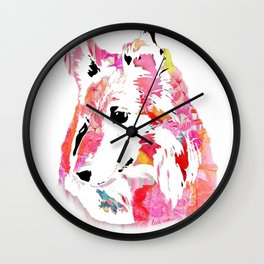 luci the sheltie Wall Clock