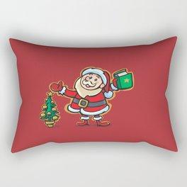 Santa Claus and Wish Balloon Rectangular Pillow
