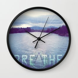 Breathe in the Beauty of Nature Wall Clock