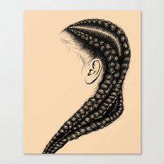 Crown: Long Braids Canvas Print