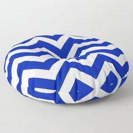Blue (Pantone) - blue color - Zigzag Chevron Pattern Floor Pillow
