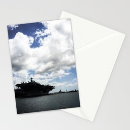 Pearl Harbor Aircraft Carrier Silhouette Stationery Cards