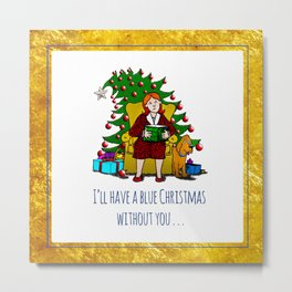 A Blue Christmas Metal Print