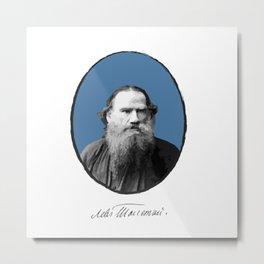 Authors - Lev Tolstoj Metal Print
