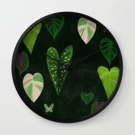 I heart houseplants Wall Clock