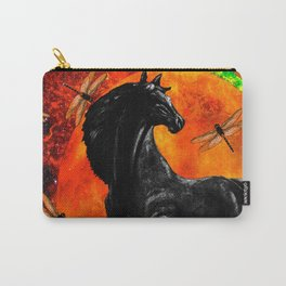 HORSE MOON AND DRAGONFLY VISIONS Carry-All Pouch