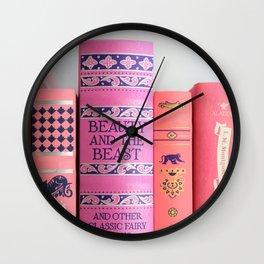 Shelfie in Pink Wall Clock