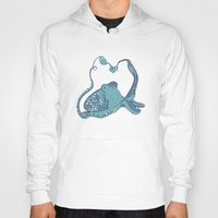 octopus Hoodies featuring Octopus ! by Clare Corfield Carr