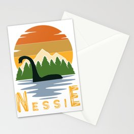 Nessie vintage sunset Stationery Cards