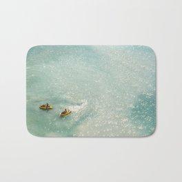 Jet Ski Friends in the Ocean | Paradise | Beach Mood | Aerial Photography | Ocean Print Bath Mat