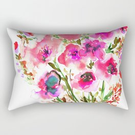 Bouquet Pink Rectangular Pillow