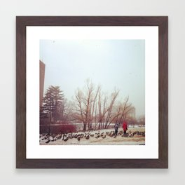By The Pond Framed Art Print
