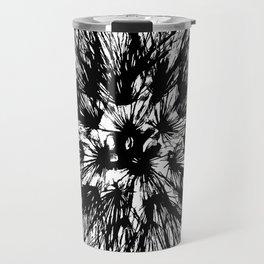 Make A Wish Dandelion Vector In Black Travel Mug