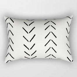 white arrow mudcloth chevron Rectangular Pillow