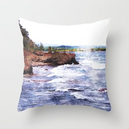 Upper Peninsula Landscape Throw Pillow