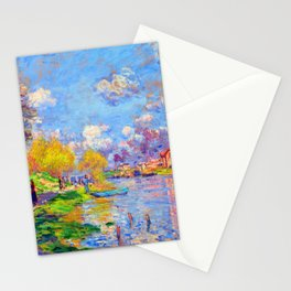 Claude Monet Spring on the Seine Stationery Cards