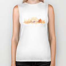 Watercolor landscape illustration_Rome - Colosseum Biker Tank
