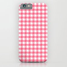 Picnic Pals gingham in strawberry iPhone 6s Slim Case