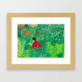 Person Among Plants Framed Art Print