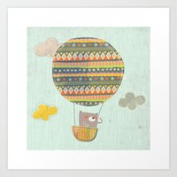 Bear in the air Art Print