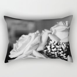 White Roses Rectangular Pillow