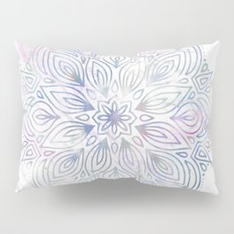 Marble Mandala - Purple Blue Rose Gold Pillow Sham