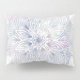 Marble Mandala - Purple Blue Rose Gold Pillow Sham