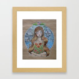 Girl Without Hands Framed Art Print
