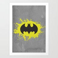bat man Art Prints featuring Bat Man by Some_Designs