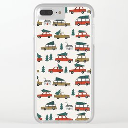 Christmas tradition christmas tree car drive home winter holidays Clear iPhone Case