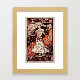 "Vintage French Poster for play ""Jeanne d'Arc"" Framed Art Print"