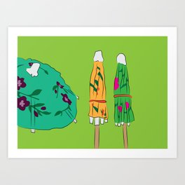Drink Umbrellas Art Print