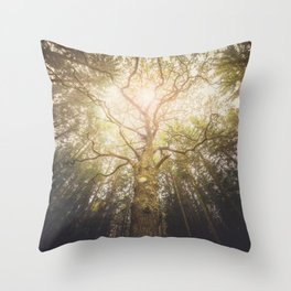 I found a tree in the forest Throw Pillow