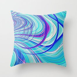 Re-Created  Hurricane 5 by Robert S. Lee Throw Pillow