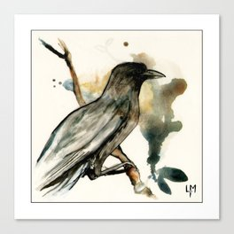 The Watching bird Canvas Print
