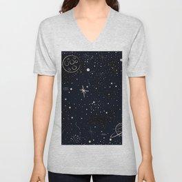 Stars and Saturn Unisex V-Neck